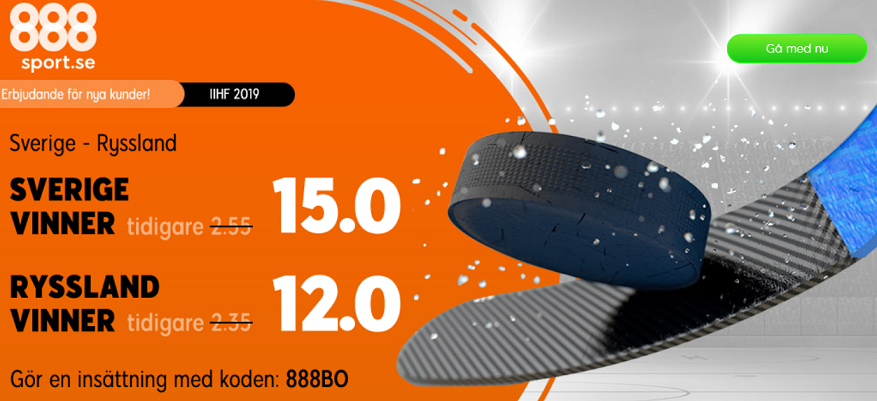 Stormatch i Hockey-VM med boostade odds!